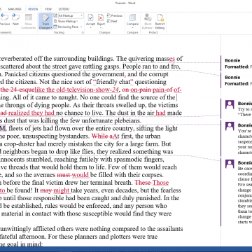 A Squire's Guide to Microsoft Word Track Changes