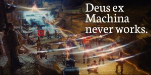 Deus ex Machina never works. Indiana Jones screenshot