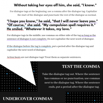 Dialogue: Where the Heck Do Commas Go?