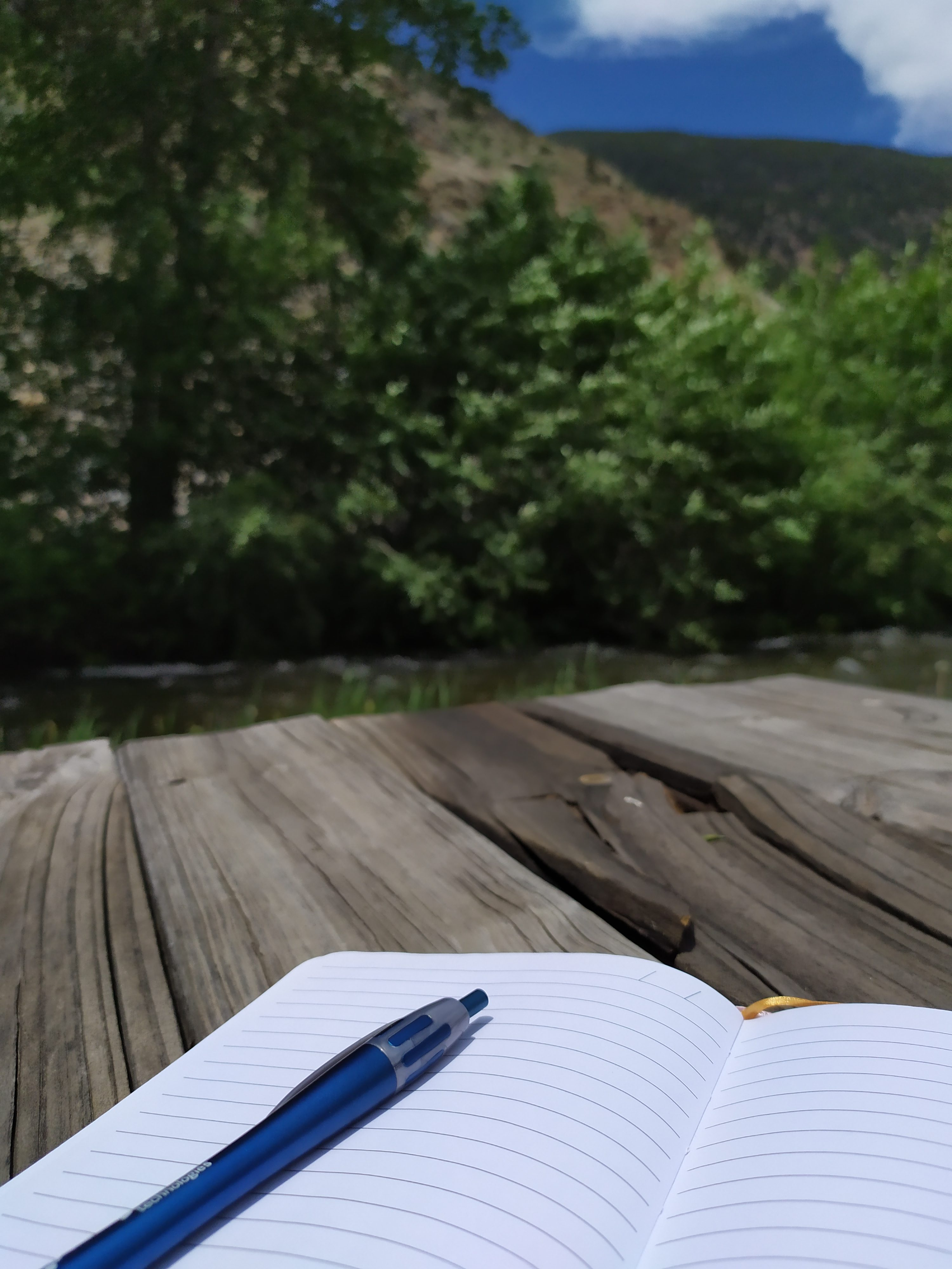 Writing in the mountains
