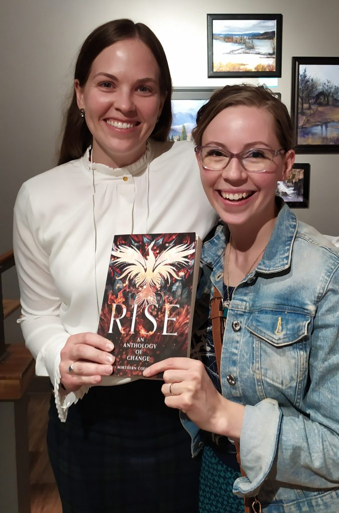 Editor and contributor to Rise at anthology launch party