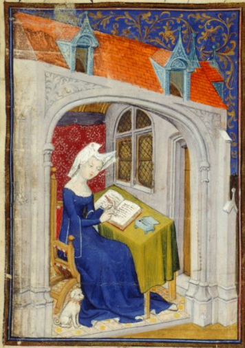 Christine de Pizan in her study