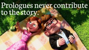 Prologues never contribute to the story--Up movie screenshot