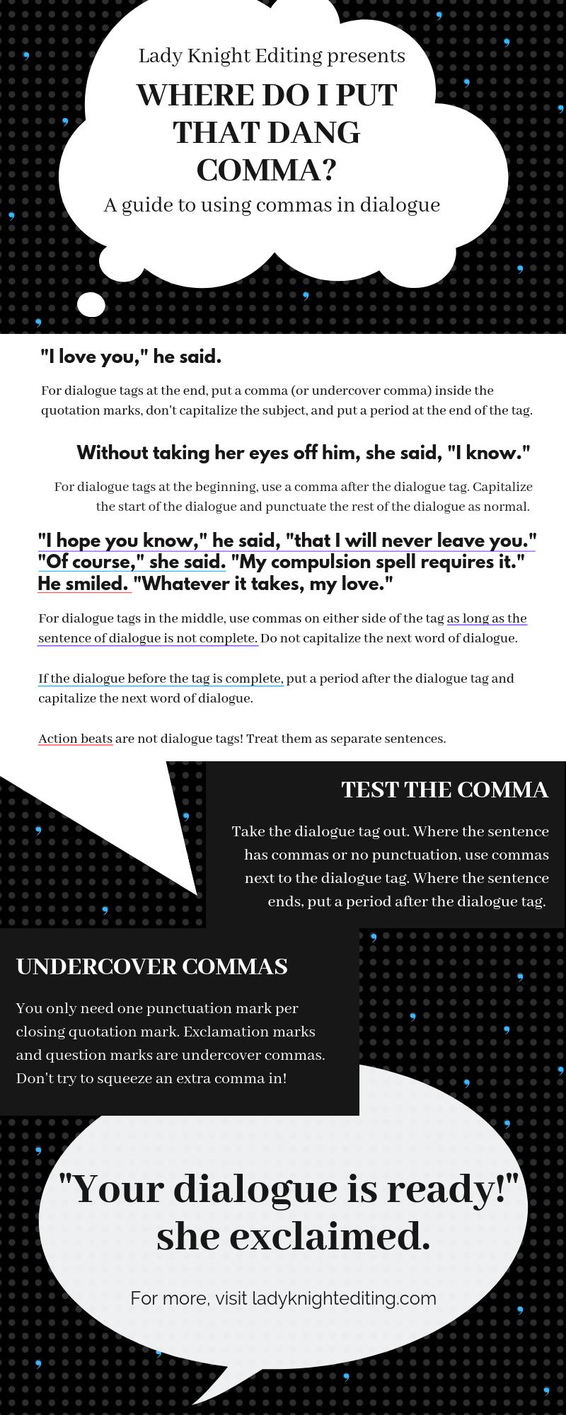 Comma infographic