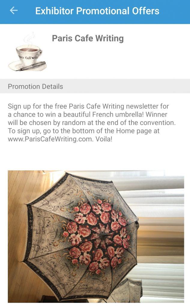 Screenshot of virtual exhibitor raffle drawing